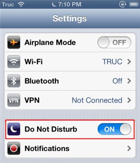 Do Not Disturb :: Tính năng bạn nên biết trên Iphone