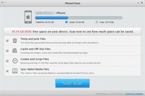 """""""Dọn dẹp"""" iPhone với phần mềm PhoneClean"""