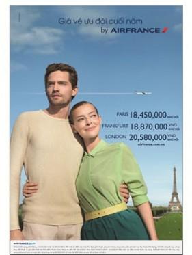 Cơ hội vàng đi Châu Âu cùng Air France.