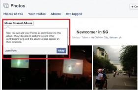 Facebook cập nhật tính năng Shared Photo Album