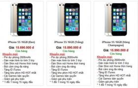 IPhone 5S xach tay lan dau ha gia xuong duoi 16 trieu dong