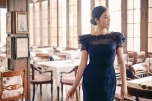 Lý Nhã Kỳ váy ren gợi cảm tại Indonesia