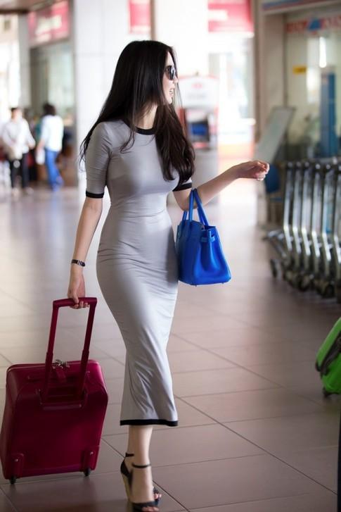 Ngọc Trinh khoe body sexy cực chuẩn cuốn hút mọi ánh nhìn tại sân bay