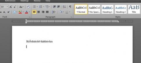 Sửa lỗi dính chữ trong Word 2007