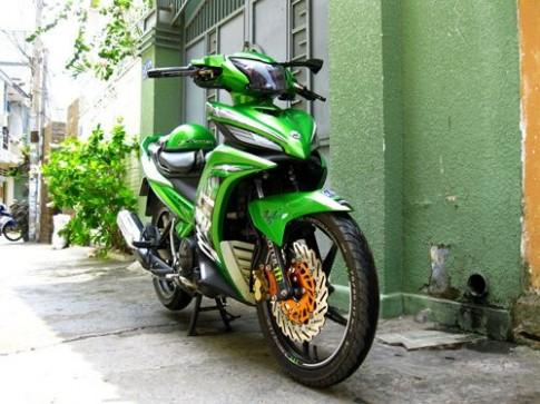 Bộ đôi EX và LX độ màu xanh Kawasaki