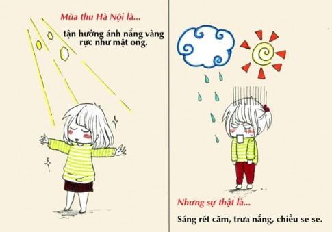 [Bộ tranh] Sự thật về mùa thu mà chỉ người Hà Nội mới hiểu