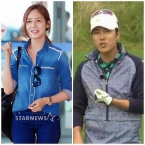 """""""Búp bê Hàn"""" Sung Yuri hẹn hò cầu thủ golf"""