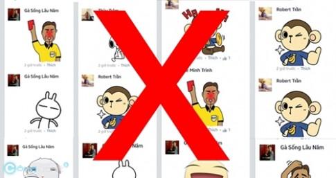 Cách loại bỏ Sticker trên các comment Facebook khi sử dụng Chrome