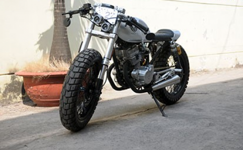 Caferacer đen bạc Honda CB 125T 1986