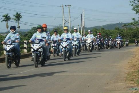 [Clip] Dàn xe Exciter rước dâu ở Lâm Đồng