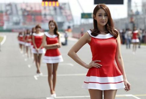 Dàn hot girl xứ Hàn rạng ngời trên đường đua F1