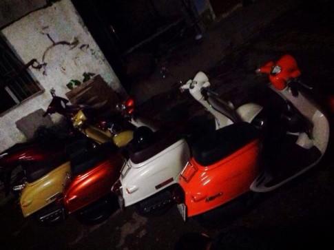 Dàn xe 50cc độc đáo ở Sài Gòn.