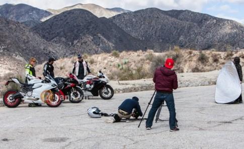 Hậu trường chụp ảnh siêu mô tô Ducati, Suzuki, MV Agusta