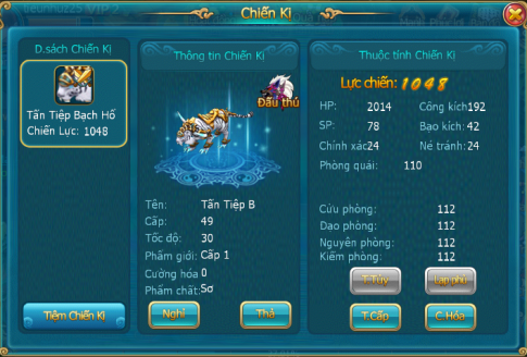 Hệ thống chiến kị trong game Đao Kiếm Giang Hồ