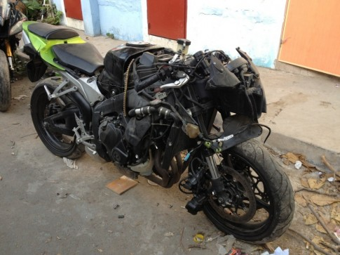 Hình ảnh xe PKL bị tai nạn