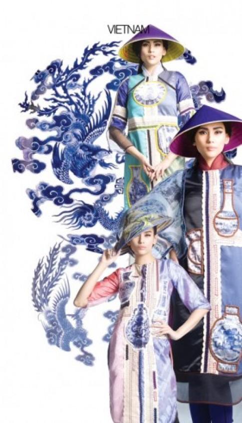 Hoàng Yến diện áo dài vòng quanh thế giới