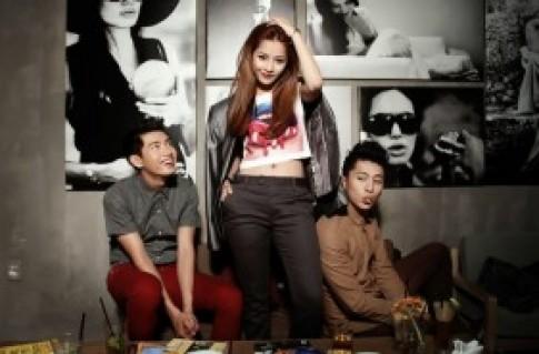 Hot girl Chi Pu mạnh dạn khoe eo thon trước mặt 2 hot boy