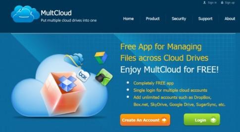 MultCloud chương trình quản lý các dịch vụ lưu trữ đám mây