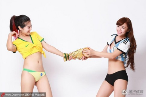 "Nguoi dep, bikini lam ""nong ran"" mua World Cup 2014"