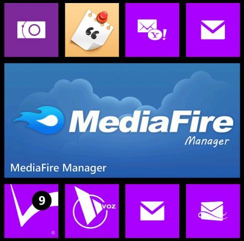 Quản lý và share file từ Mediafire trên điện thoại WP8