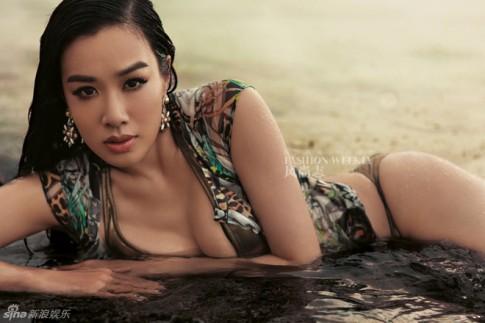 Sao gốc Việt Chung Lệ Đề diện bikini khoe vẻ quyến rũ