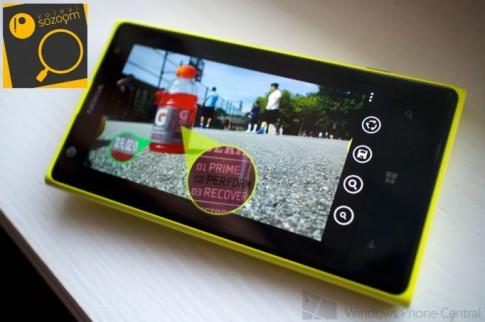Sozoom, ứng dụng zoom độc quyền dành cho Nokia Lumia 1020 và 1520