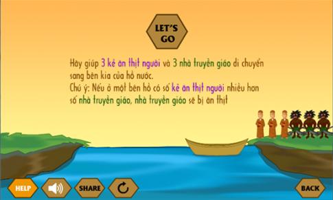 Tải game Qua Sông IQ - game trí tuệ vượt qua cả Bắt Chữ