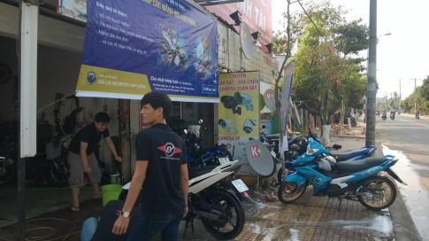 Ý nghĩa: rửa xe gây quỹ từ thiện của Exciter Club Bình Dương.
