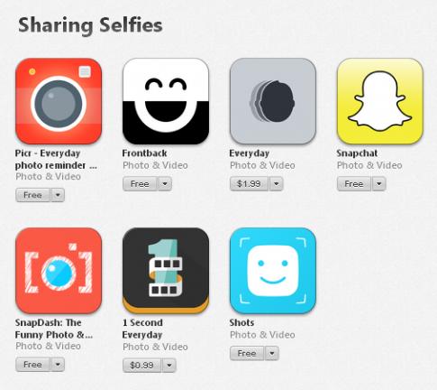 """Apple mở mục riêng cho ứng dụng """"tự sướng"""" trên App Store"""