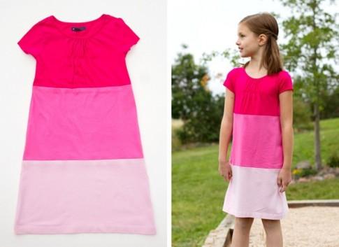 Biến áo cũ thành váy mới xinh yêu tặng bé