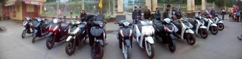 Dàn xe Honda SH của Vietnam SH Club viếng thăm Phú Thọ
