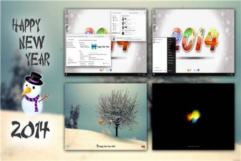 Đổi theme cho Windows 7 đón chào năm mới 2014.