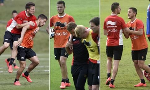 Đội tuyển Bỉ đánh nhau loạn cả sân tập