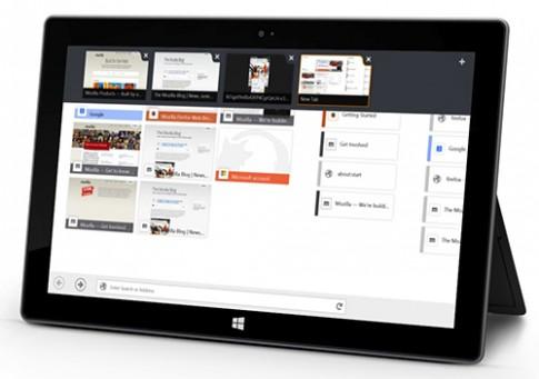 Firefox tối ưu cho Windows 8 đã cho tải về bản beta