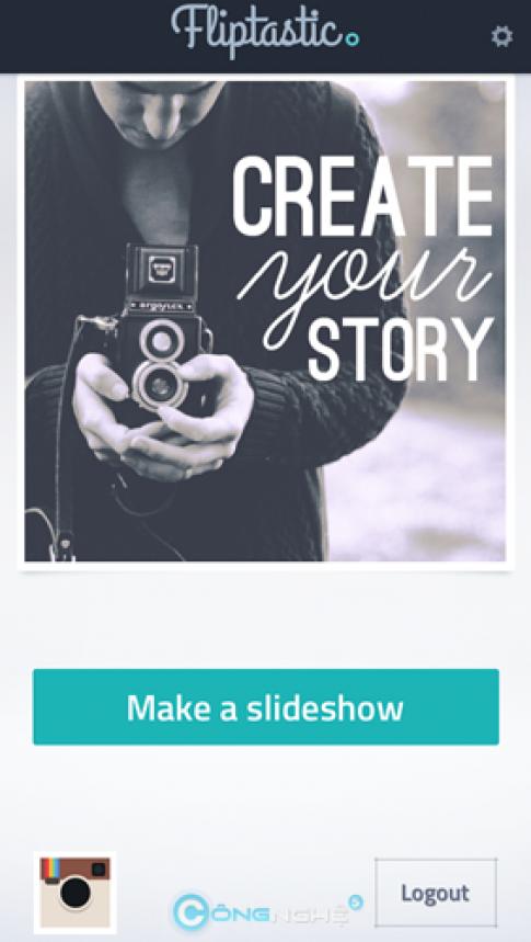 Flipstatic: tạo slideshow hình nhanh gọn trên Instagram