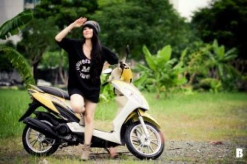 Hani Nguyễn cá tính cùng xe Kymco Candy Hi 110