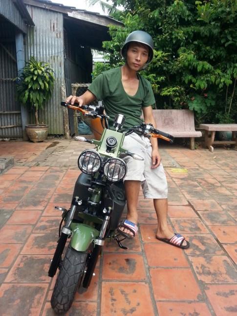 Honda Zoomer Đồng Tháp độ phong cách quân đội
