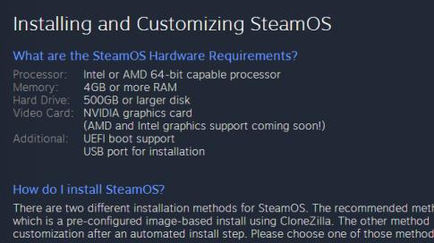 Hướng dẫn cài đặt HĐH SteamOS cho game thủ.