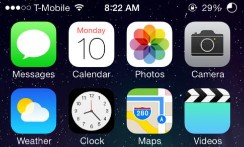 Hướng dẫn tạo icon tròn cho cột pin iOS 7