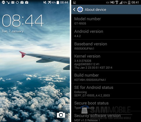 Hướng dẫn update firmware Android 4.4.2 cho Galaxy S4