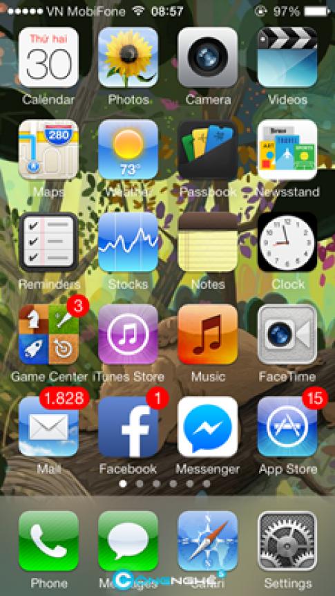 iOS 6 Theme (iOS 7): Bộ icon hoài cổ cho iOS 7