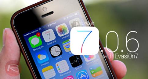 Jailbreak iOS 7.0.6 Untethered sử dụng tool Evasi0n7