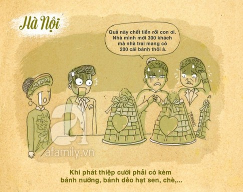 Khác biệt giữa Đám cưới Sài Gòn và Hà Nội