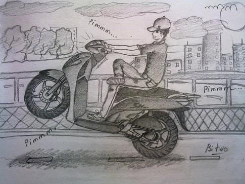 Kỹ thuật bốc đầu xe máy cho người mới tập