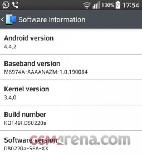LG G2 chính thức được cập nhật Android 4.4 KitKat