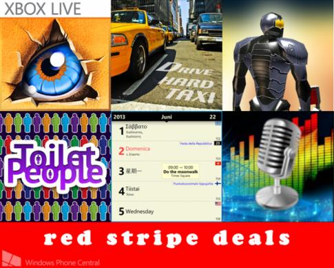 Loạt game / ứng dụng giảm giá trong đợt Red Stripe Deals của Windows Phone Store