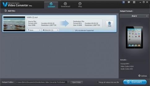 Miễn phí bản quyền Wondershare Video Converter Pro - tải ngay kẻo lỡ