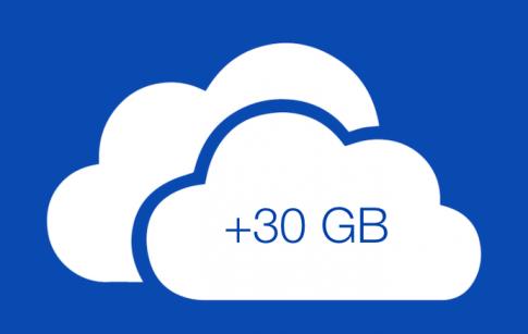 Nhanh tay đăng kí dịch vụ OneDrive để được nhận 30GB dung lượng miễn phí.