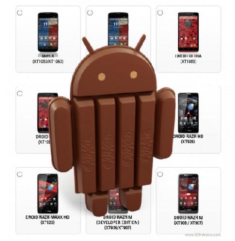 Smartphone Motorola sẽ được update KitKat 4.4