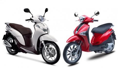 So sánh Honda SH mode và Piaggio Liberty 2014